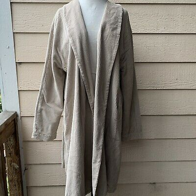 CP Shades Marian Cord Wide Duster Jacket Long Sleeve Corduroy Women Casual XL
