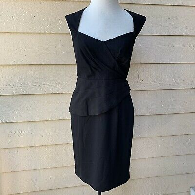 Anthropologie Maple Unequivocal Dress Black Cocktail Party Sleeveless Short 4