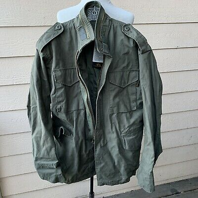 Alpha Industries Cold Weather Mans Field Coat Green 8415-01-099-7838 Military L