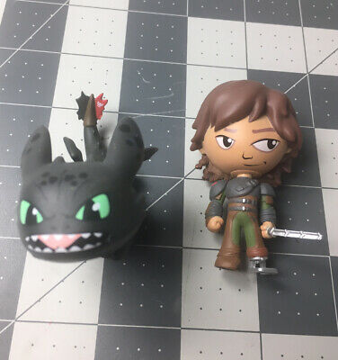 How to Train Your Dragon 2 Funko Mystery Mini Figure Lot Hiccup - Toothless 2014