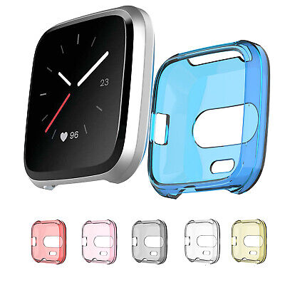 Band Shell Case Watch Soft TPU Screen Protector Cover For Fitbit Versa Lite