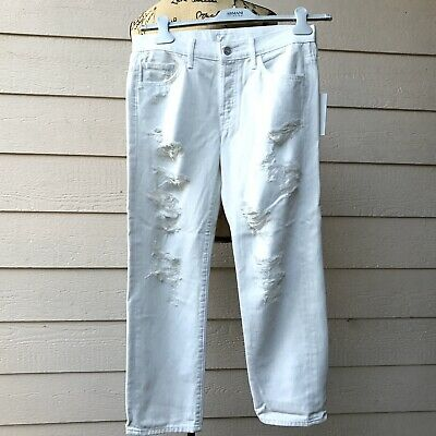 Anthropologie Mother Loosey High-Rise Party Crashers Jeans Women Casual White M