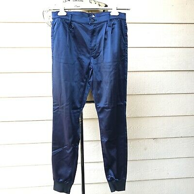 Anthropologie Mother Pleated Trainer Joggers Pants Casual Women Sample Blue M