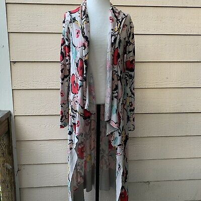 Anthropologie Sparrow Exemplar Duster Cardigan Long Sleeve Women Floral Casual L