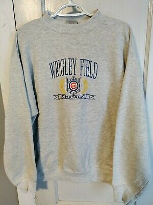 Vintage Logo 7 Chicago Cubs Wrigley Field Embrodiered Pullover Size Men's XL