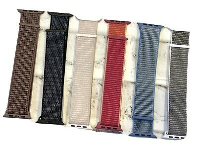LOT OF 6 Sports Loop Bands for Apple Watch - 4244mm - Adjustable