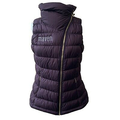 Athleta Downabout Vest Maven Purple Casual Puffer Quilted Funnel Neck Women M