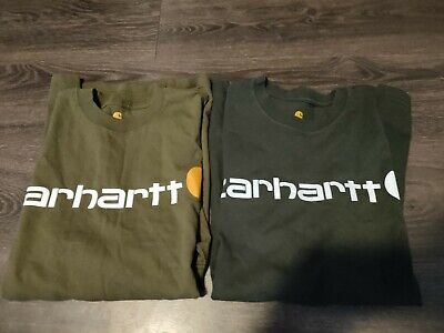 LOT OF TWO Carhartt T-Shirt Mens Size Small Short Sleeve