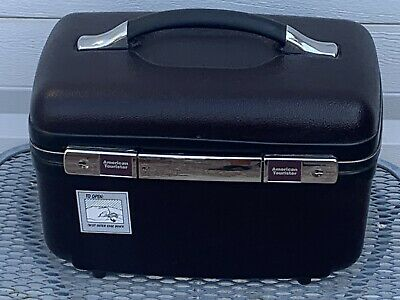 American Tourister train case  makeup case - Dark Brown BEAUTY with key