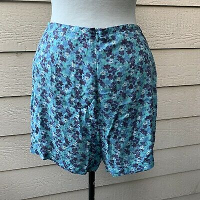 Reformation Decade Chapman Shorts Women Blue Floral Casual High Waisted 8 138