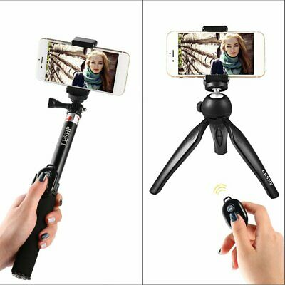 LESHP Tabletop Selfie Stick Monopod with Wireless Bluetooth Remote -Tripod Stand