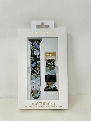 Rifle Paper CO- Apple Watchband for Series 1 to 6 38mm-40mm- Garden Party Blue