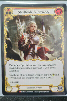 STEELBLADE SUPREMACY - MAJESTIC - Flesh and Blood tcg FaB Welcome to Wrath