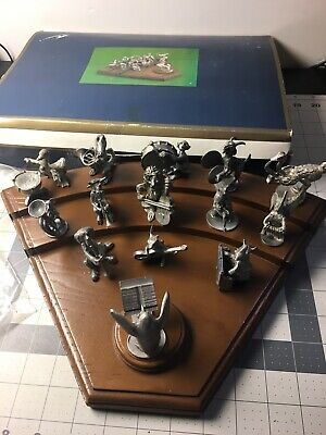 Vintage Hudson Pewter Animal Orchestra Strike up the Band w Box READ