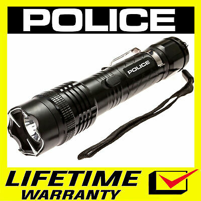 POLICE Stun Gun 1158 650 BV Metal Rechargeable With LED Flashlight