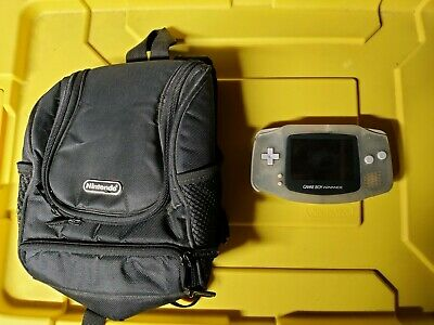 Nintendo GameBoy Advance AGB-001 Glacier - Bag FOR PARTS ONLY DOES NOT POWER ON