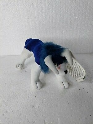 Monster Rancher Tiger of The Wind Blue Wolf Plush Temco 2000 RARE with Tags