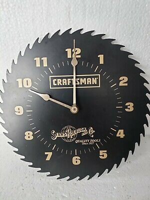 CRAFTSMAN Sears Roebuck 10 BLACK Saw Blade Clock Not working decoration only