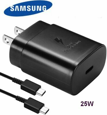 Samsung 25W Super Fast Wall Charger USB-C - Cable For Galaxy S2120 5G Note 10