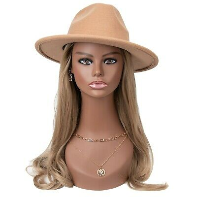 18 Realistic Mannequin Wig Head PVC Manikin Stand for Display Hair Mask PMH7645