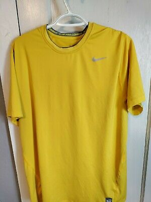 Nike Pro Combat Mens Size XL DRI FIT Short Sleeve Shirt Fitted
