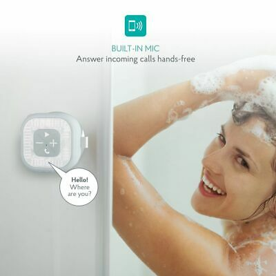 Atomi Bluetooth Shower Speaker IPX4 Water Resistant w Suction Cup
