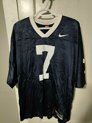 Penn State Nittany Lions 7 Vintage Nike Team Mens NCAA Football Jersey Size L