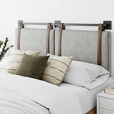 Nathan James Harlow Wall Mount Faux Leather or Fabric Upholstered Headboard A-