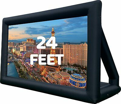 16-24 Feet Inflatable Movie Projector Screen Projection Outdoor Theater WBlower
