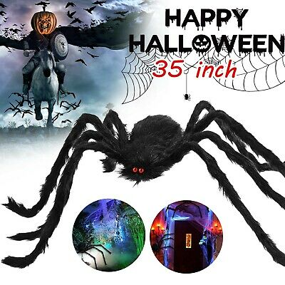 35 Large Halloween Spider Haunted House Prop Indoor Outdoor Scary Party Decor