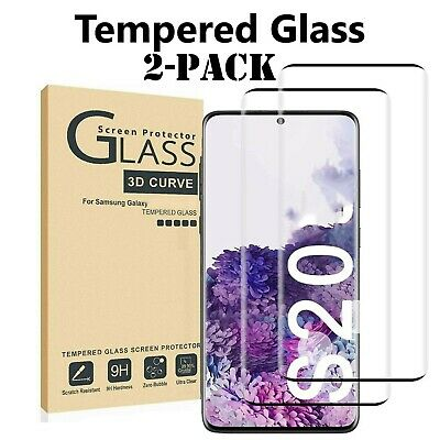 2-Pack Tempered Glass For Samsung S10 S20 Note 20 10 Plus Ultra Screen Protector