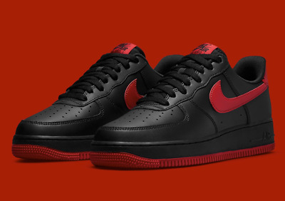 Nike Air Force 1 07 Shoes Black University Red DC2911-001 Mens Multi Size NEW