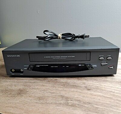 Daewoo DV-T5DN VCR VHS Player Recorder 4 Head No Remote Tested Working
