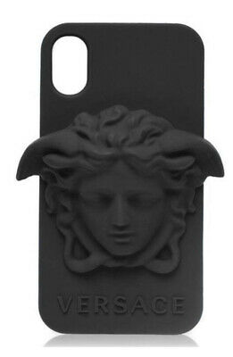 Versace Black Medusa Iphone Xs Case Brand New In The Box Authenticity Card Inc.