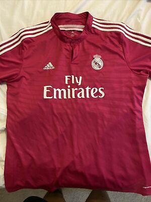 Adidas Real Madrid Fly Emirates Hot Pink Climacool Soccer Jersey Size XXL