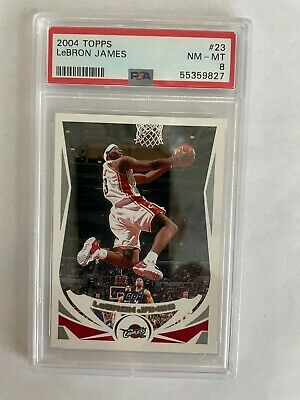 2004-05 Topps Lebron James 23  Cleveland Cavs  2nd Year  NM-MT PSA 8