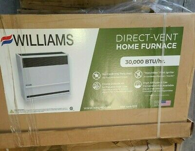 NIB -Williams Direct-Vent Gravity Wall Heater 30000 BTUH 66 AFUE Natural Gas