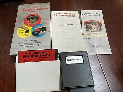Vtg Total Telecommunications Commodore 64 Modem Box Wire Phone