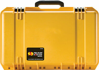 Pelican Storm iM2500 Rigid Case with pull out handle - wheels YELLOW -Free Ship-