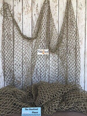 Authentic Used Fishing Net 5x10  Commercial Fish Netting  Old Vintage Decor