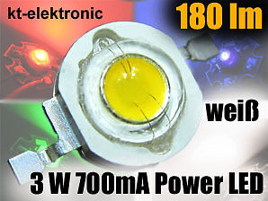 1X HIGH POWER LED 3W EMITTER WEI 180 LM 5MM LINSE