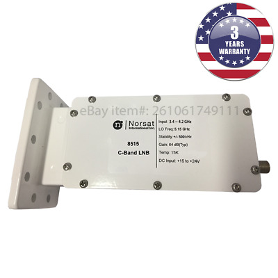 New Norsat 8515 C-Band DRO LNB 3-4 - 4-2 GHz ±500 kHz Stability F Type 75 Ohm