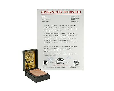 Beatles Memorabilia - The Cavern Club Brick in Collectible Box w Certificate