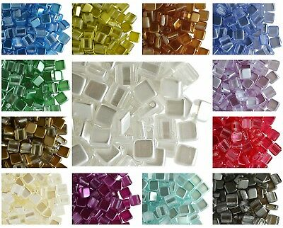 CHOOSE COLOR 40pcs 6x6x3-2mm 2-hole Tile Pearl Beads Flat Square Czech Glass