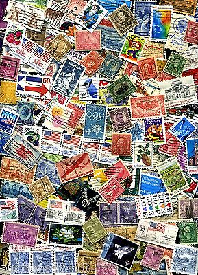USED lot of 100- mixed US stamps off paper - GREAT value with a  BONUS Offer