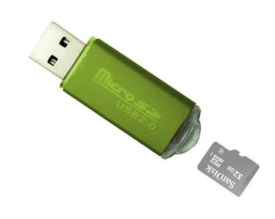 New Portable USB 2-0 Adapter Micro SD SDHC Memory Card ReaderWriter Flash Drive