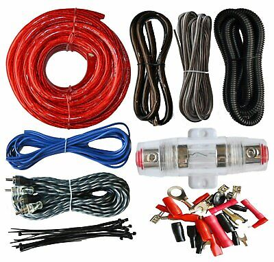 SoundBox ECK4 4 Gauge Amplifier Install Wiring Kit 4Ga Amp Install Cables 2200W