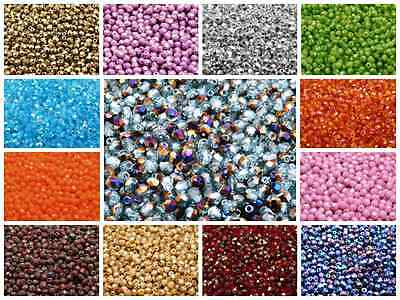 CHOOSE COLOR 100pcs 4mm Round Faceted Fire-Polished Beads Czech Glass
