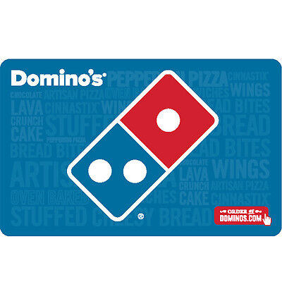 Dominos Pizza Gift Card - 25 50 or 100 - email delivery