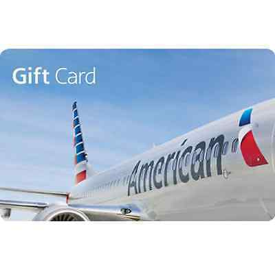 American Airlines Gift Card - 100 or 250 - Email delivery